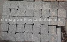 granite tumbled cube stone/cube paving