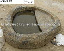 garden stone birdbath