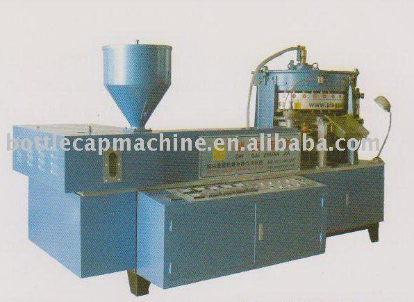Plastic cap molding machine