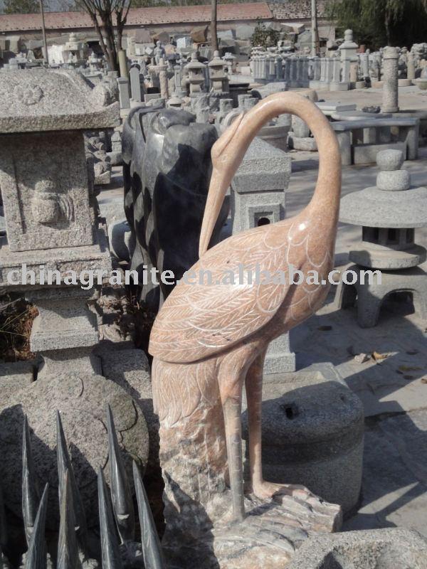 stone garden crane