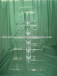 6 tier acrylic cupcake stand