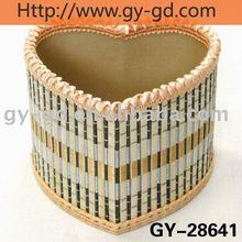 Bamboo Heart Shape Pen Box,pen holder