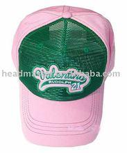 Applique embroidery cotton trucker cap