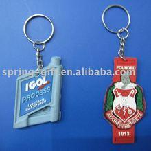 rubber pvc key chain