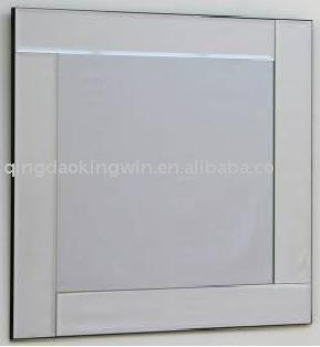 Moderno cristal marco del espejo espejos identificaci n for Espejo marco cristal