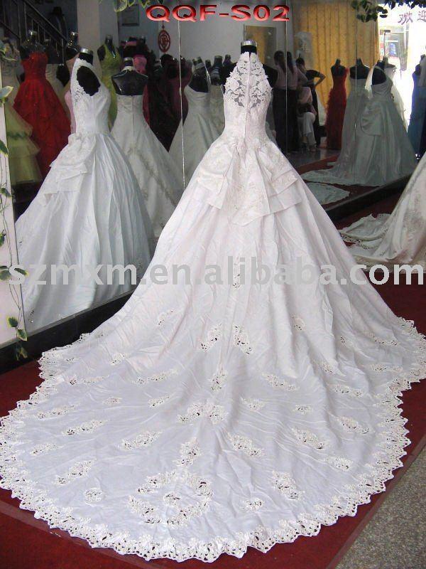 wedding dresses long trains cheap 3