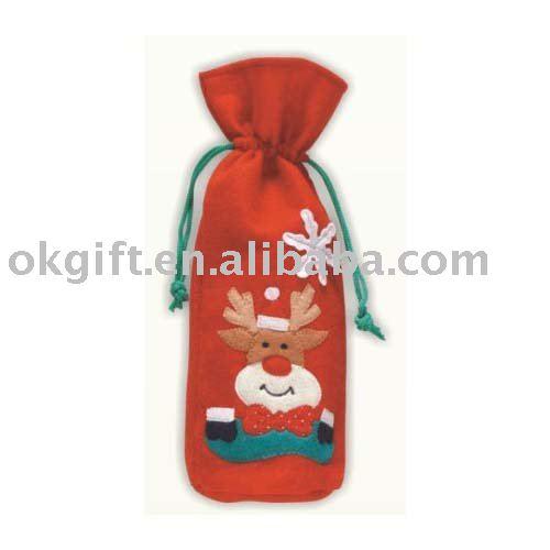 Promotion wine bottle bag,felt bag
