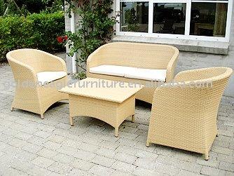 Sint tico de mimbre muebles conjuntos de jard n - Muebles de mimbre para jardin ...