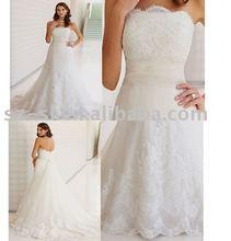 Delicates bridal wedding dress silk sl-7329