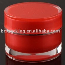 Watermelon red colored 50g acrylic jar high quality good price