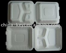 biodegradable disposable tableware (sugarcane fiber food clamshell)