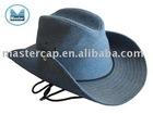 denim cowboy hat