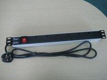 UK type 1U Aluminum shell PDU socket for cabinet