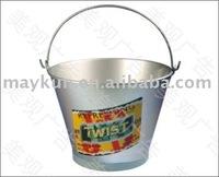 ice tin bucket with handle
