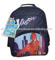 el último diseño de bolsa de la escuela de color azul de nylon 420d estudiante bolsa de super spider man mochila de fantasía