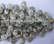 fashion tree agate gemstone teardrop loose strand beads