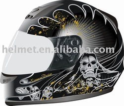 Motorcycle cross full face helmet with DOT or ECE