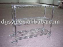 Wire Mesh Shelves, Racks, Handcart