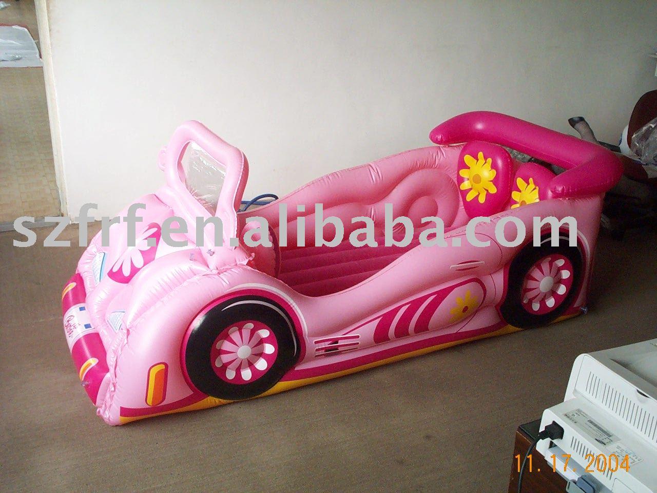 şişme çocuk mobilya, şişme arabası yatağı, şişme prenses arabası yatağı