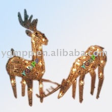 Sell YGM-IR013 rattan deer ,rattan carfts ,weaving products