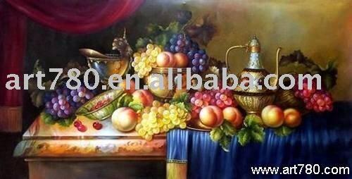 Bodegón decorativo ( realista pintura )-Pintura y Caligrafía ...