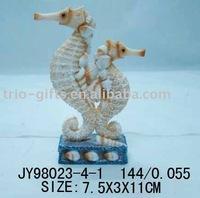 polyresin sea horse(craft of decoration)