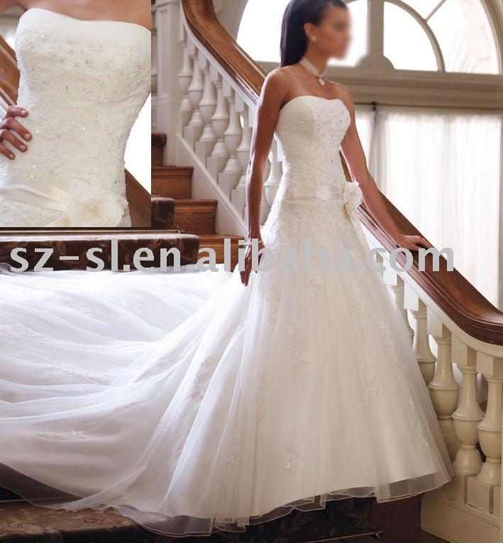 see larger image bridal wedding dress long train sl1235