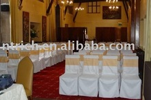 100%polyester chair cover,Hotel/Meeting/Wedding chair covers, Organza sash
