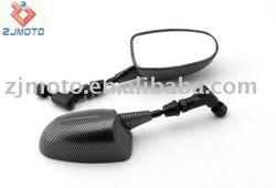 MOTORCYCLE MIRRORS Universal FOR Honda / Kawasaki / Yamaha Carbon Racing Mini Mirrors (Street)