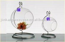 hanging glass vase