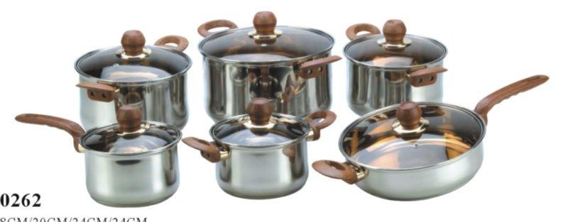 12pcs cookware set bateria de cocina view cookware set - Bateria de cocina ...