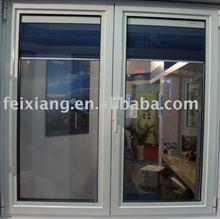 PVC blind window,PVC Shutter window, PVC casement window