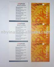 ticket(cinema,airline,etc.)