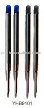 Metal ballpoint pen refill