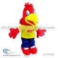 De la felpa juguete de aves, suave de color rojo de aves, de peluche mascota de aves