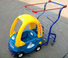 supermarket kids shopping car with basket