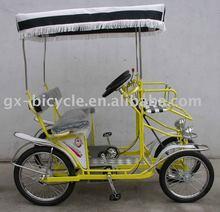YELLOW SURREY BIKE QUADRICYCLE