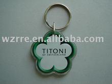 flower key chain/acrylic keyring/key tag