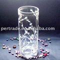 Decoração vaso de vidro transparente