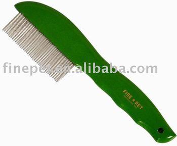 Wooden Green Pet Comb FN-WSC811G