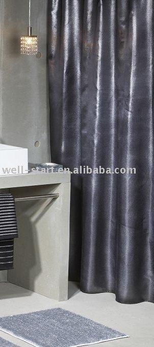 metallische silber goldfolie druckte duschvorhang mit pvc. Black Bedroom Furniture Sets. Home Design Ideas