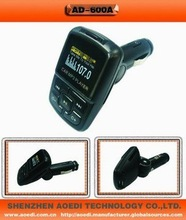 latest unique model without falsh memory car mp3 player car FM Modulator with SD/MMC U disk function prompt delivery