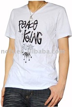 Summer hot sale white plain t shirt with printing
