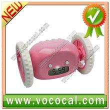 Pink Running Alarm Clock with flashing screen