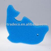 dolphin shaped bath sponge