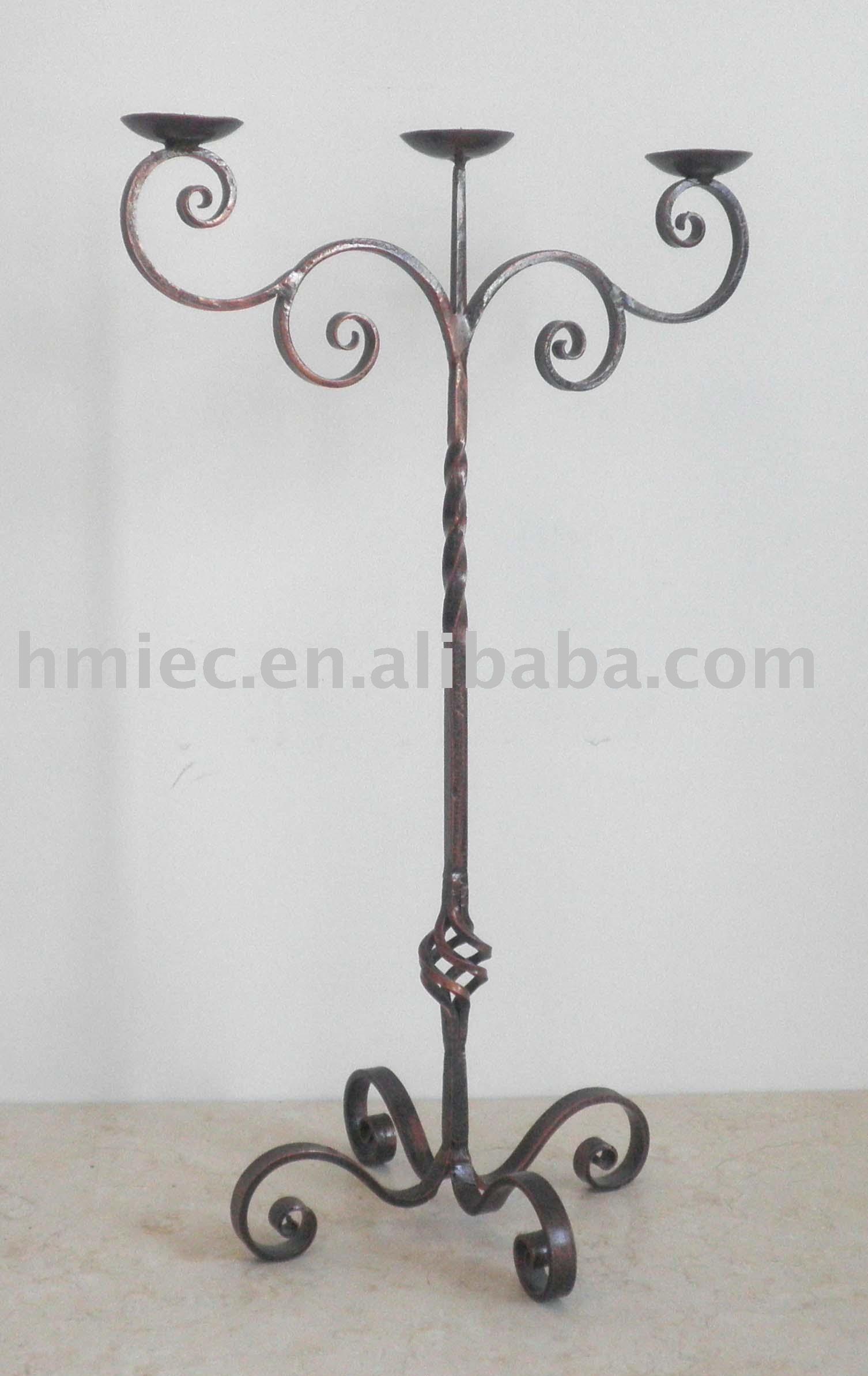 De hierro forjado de candelabros portavelas identificaci n - Como hacer lamparas originales ...