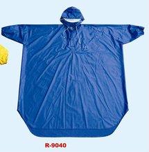 blue 100%PVC bicycle raincoat