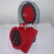 IP67 CEE waterproof plastic Panel mounted Industrial Socket Electrical plug&socket 3p+n+e industrial plug and socket