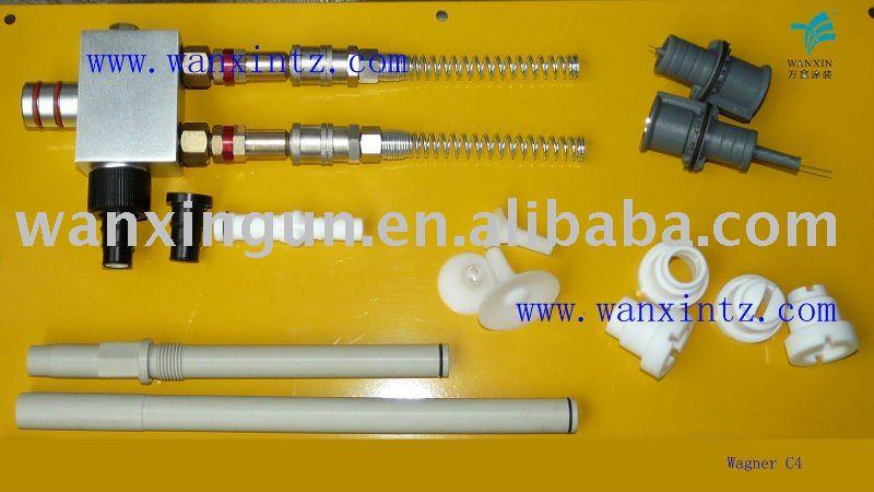 Wagner C4 polvo de reemplazo de bombas, Polvo del inyector, Boquillas de los inyectores common