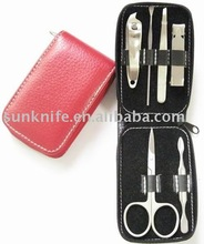 zipper bag manicure kit with wallet style/manicure tool